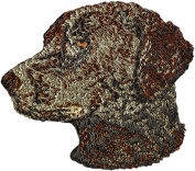 Curly Coated Retriever, Embroidery, patch with the image of a dog
