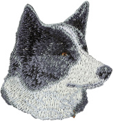 Karelian Bear Dog, Embroidery, patch with the image of a dog