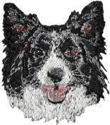 Border Collie, Embroidery, patch with the image of a dog