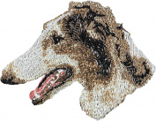 Borzoi, Embroidery, patch with the image of a dog