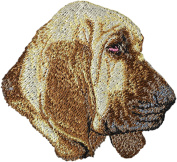 Bloodhound, Embroidery, patch with the image of a dog