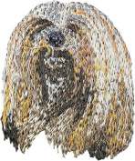 Lhasa Apso, Embroidery, patch with the image of a dog