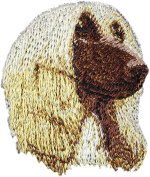 Afghan Hound, Embroidery, patch with the image of a dog