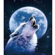 Fipart DIY diamond painting cross stitch craft kit. Wall stickers for living room decoration.Wolf