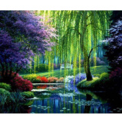 Fipart DIY diamond painting cross stitch craft kit. Wall stickers for living room decoration.landscape