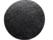 YYCRAFT Pack Of 50pcs Large Felt 7.6cm Circle Appliques-Black