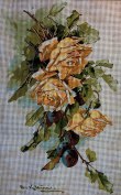 "Needlepoint Kit ""Roses"" 9.8""x15.7"" 25x40cm printed canvas cod.550"