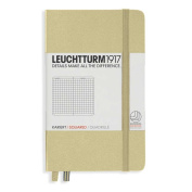 Leuchtturm1917 Pocket Size Hardcover Squared Notebook, Sand