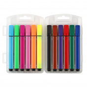 Tenn Well water pen, 12-colour washable felt tip pen with carrying case