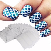 Elaco 24 Sheets Nail Grid Stencil Reusable Manicure Nail Stickers Stamping Template Nail Art