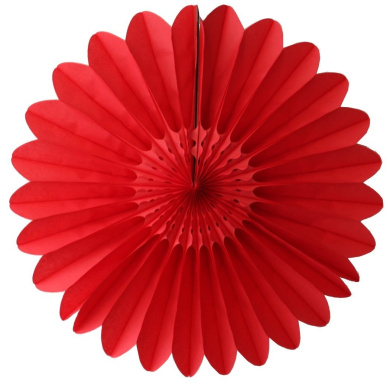 3-pack 70cm Extra-Large Honeycomb Tissue Paper Party Fanburst Decoration (Red)
