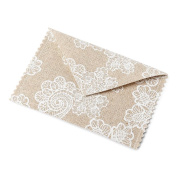 Fabric Envelope Gypsy linen natural - Boho Wedding Favours Set of 4