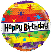 Birthday 46cm Mylar Balloon Bulk