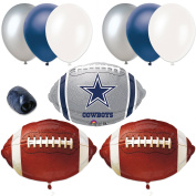 Veil Entertainment NFL Dallas Cowboys Football Party 10pc Balloon Pack