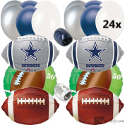 Veil Entertainment Dallas Cowboys Football Party Ultimate 32pc Balloon Pack