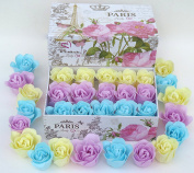 Easter Rose Bath Bombs, 15 Rose Flower with Eifful towel Gift Box.