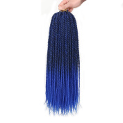 46cm Senegalese Twist Crochet Braids Synthetic Hair 75g/Pack