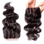 Rishang Hair Brazilian Body Wave Closure 4x 4 Human Hair Lace Front Closure 3 Part Lace Closure with Bleached Knots Lace Top Closure