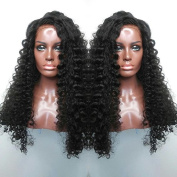 70cm Glueless Human Hair Full Lace Wigs Brazilian Deep Curly Hair Lace Wig with Baby Hair 130% Density Brazilian Virgin Hair Lace Front Wig