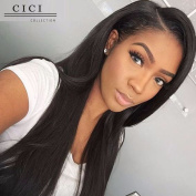 Cici Collection Full 360 Lace Wigs Peruvian Lace Front Human Hair Wigs For Black Women Pre Plucked With Baby Hair Straight 360 Lace Virgin Hair 180% Density 360 Lace Frontal Wig