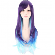 Yesui Long Straight Synthetic Hair for Women Costume Party Multi-Colour Lolita Curly Cosplay Wigs with Wig Cap