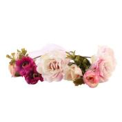 Leoy88 Baby Headband and Monther Rose Flower Hairband Wreath Headdress