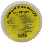 afrikaimports Organic African Shea Butter, 100% natural, Yellow, 470ml