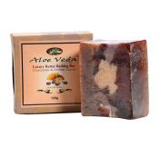 Aloe Veda Luxury Butter Bar - Chocolate & Coffee Scrub Soap, 125 gm