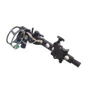 SAS 5 Pin .48cm Bow Sight with Micro Adjust Detachable Bracket LED Sight Light