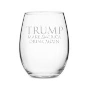 Trump Makes America Drink Again Stemless 440ml Wine Glass