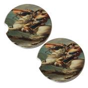 Napoleon Crossing the Alps - Sandstone Car Drink Coaster