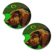 Love My Bloodhound - Sandstone Car Drink Coaster