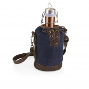 LEGACY - a Picnic Time brand Stainless Steel Growler with Navy Canvas Lace up Growler Tote, 1890ml, Copper