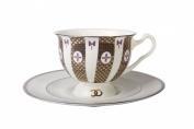 Aisedora Together Forever (1) 8.1 oz/240 ml Lomonosov Bone China Demitasse Cup Set