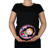 Colour Fashion Maternity Soft Touch Wonder Woman Baby Superhero Cotton Print Top