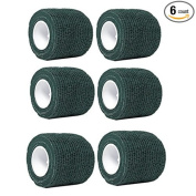 Self-Adherent Stretch Cohesive Athletic Tape Wrap Bandage 5.1cm by 6 yards (Pack of 6) by Aguaton