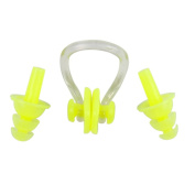 Lisli Soft Silicone Swimming Ear Plugs + Nose Clip Water Sports Set of 3 Pieces