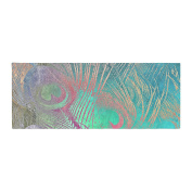 """KESS InHouse Alison Coxon """" Indian Summer"""" Purple Teal Abstract Bed Runner, 90cm x 220cm"""