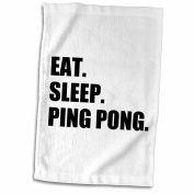 InspirationzStore Eat Sleep series - Eat Sleep Ping Pong - sport humour fun text gift for table tennis fans - 11x17 Towel