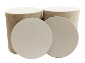 100 10cm Round Heavyweight Blank Plain Off-White Paper Coasters for table, DIY Crafts, Zen Tiles Designs