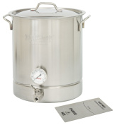 Bayou Classic Stainless Steel 30.3l Brew Kettle Set, 30.3l