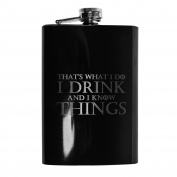 240ml BLACK That's What I Do Flask L1