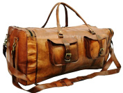 "28"" Large Leather Duffel Bag Travel Bag"