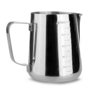 Stainless Steel Frothing Pitcher with Measurement Scales on Both Sides Inside Coffee Jug Milk Frothing 1000ml