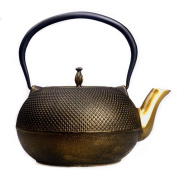 Japanese Cast Iron Pot Small Ding Pattern Handmade Uncoated Gold Mouth Boiled Water Tea 1.8L