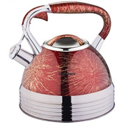 2.7 Litre Whistling Kettle Water Jug Kettle Stainless Steel Induction Whistling Kettle Teapot Premium Long Red