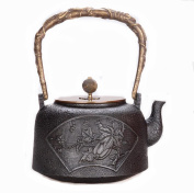 Japanese Cast Iron Pot Chunhua Qiushi Handmade Uncoated Pure Iron Inner Wall Boiled Tea 1.2L
