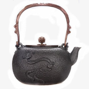 Japan Cast Iron Pot Ruyi Pure Hand-Coated Copper Cover Boiled Water Tea 1.3L