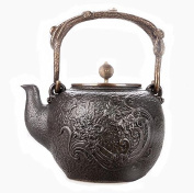 Japanese Cast Iron Pot Dielianhua Pure Handless Uncoated Copper Cover Boiled Water Tea 1.4L