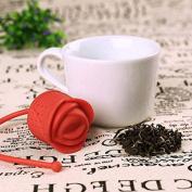 meyfdsyf Kitchen Tools Silicone Leaf Tea Infuser Rose-shape Tea Strainer
